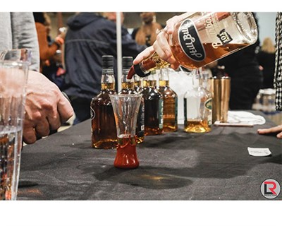 A bourbon pour.