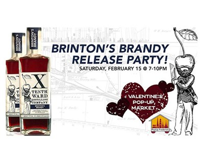 Brinton's Brandy Release Party Poster