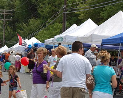 Families at the Town Fair