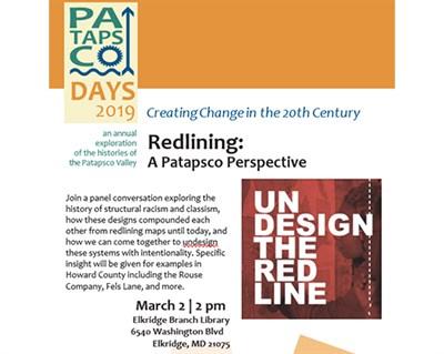 Redlining, A Patapsco Perspective flyer