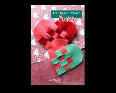 Woven heart baskets.