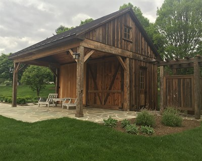 Rustic Barn and Garden in a High Country Setting