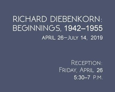 Richard Diebenkorn: Beginnings event sign