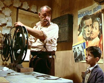 Projectionist and young boy