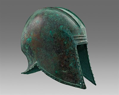 Ancient Helmet from the exhibition.