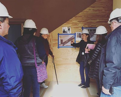 People at the Brice House Hard Hat Tour