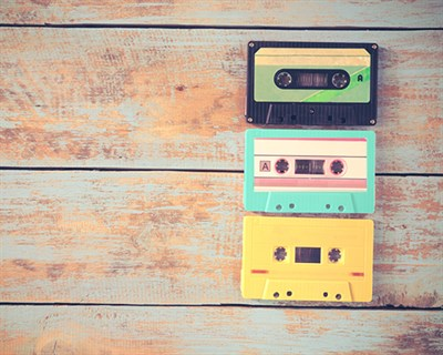 80s music cassette tapes