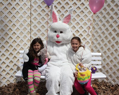 Easter Bunny with two young friends