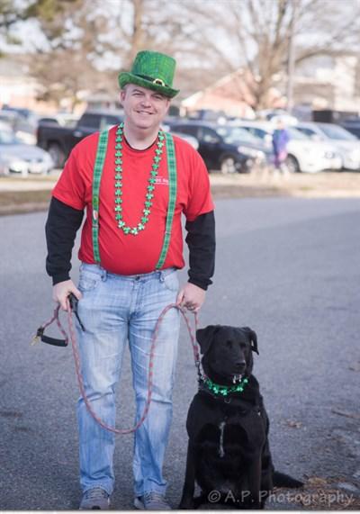 Irish man and his dog