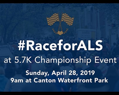 Race for ALS at 5.7K event poster