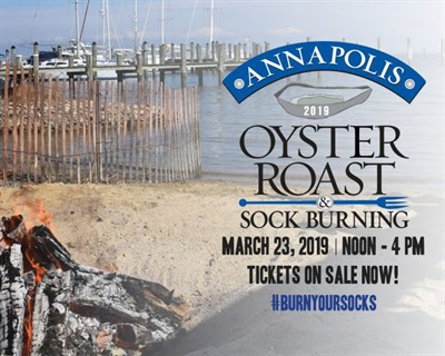 Oyster Roast Sock Burning Logo