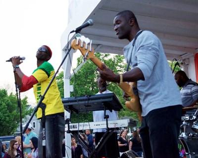 Band Performing at a Reggae Play Day