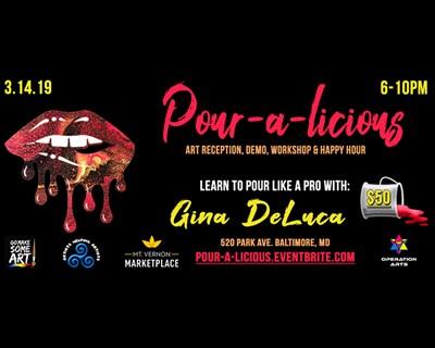 Pour-a-licious event flyer