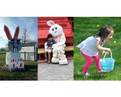 Easter Bunny and children