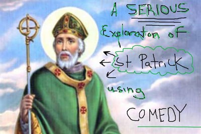 A classic painting of St. Patrick