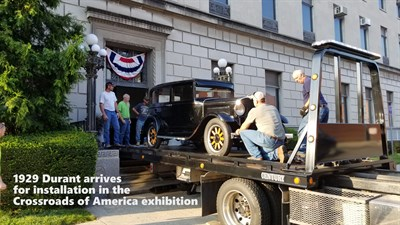 Allegany Museum receives restored Durant for Crossroads of America exhibition