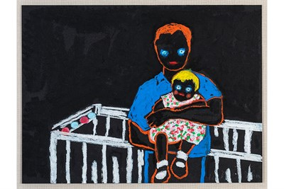 That Baby's Perfect, Linda St. John. 1989. Crapas on paper. Courtesy of the artist.