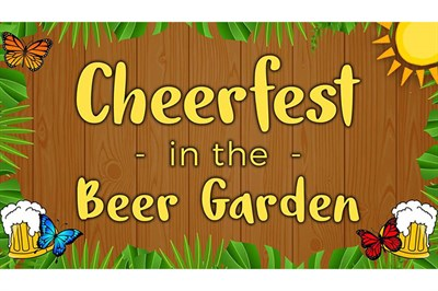 Cheerfest in the Beer Garden poster
