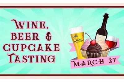 Wine, Beer & Cupcake Tasting poster