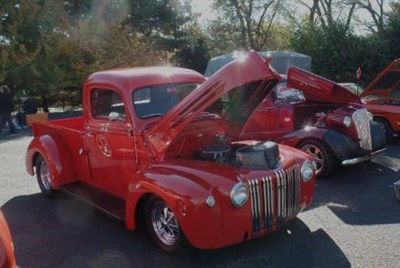 Vintage cars at the show.