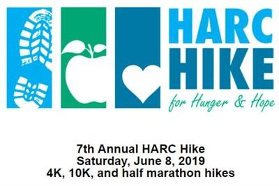 HARC Hike for Hunger & Hope poster