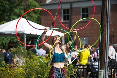 lady with hula hoops