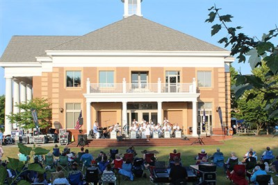 Summer concert taking place at Town Hall