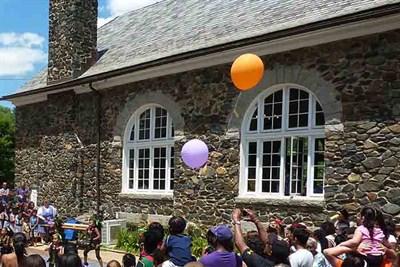 Festivities alongside Baldwin Hall