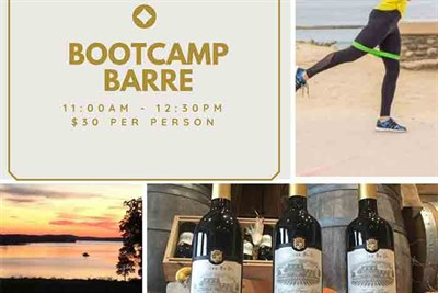 Bootcamp Barre poster collage