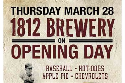 1812 Brewey's Opening Day of MLB poster