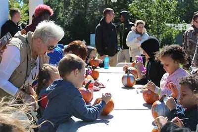 Kids and Grownups enjoying the Fall Festival