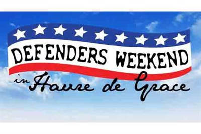 Defenders Weekend red, white and blue banner