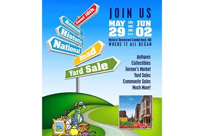 Historic National Road Yard Sale poster