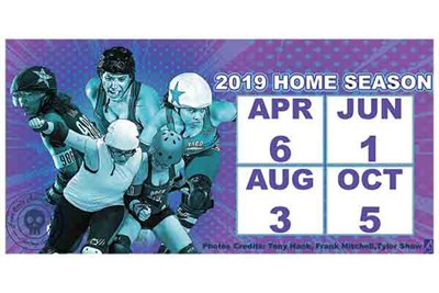 Free State Roller Derby home schedule poster