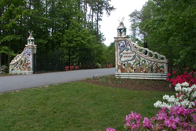 entrance gates to Annmarie Sculpture Garden