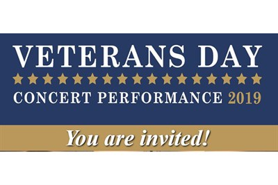 Veteran's Day Concert invitation