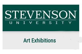 Stevenson University Art Exhibitions sign