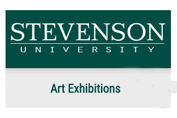 Stevenson University Art Exhibitions sign
