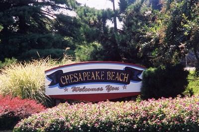 Chesapeake Beach Welcome sign