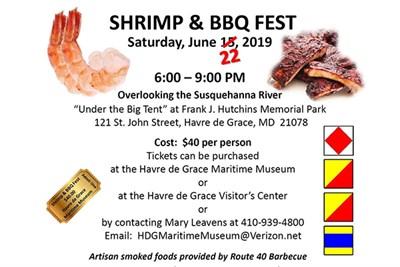 Shrimp & BBQ Fest in Havre de Grace poster