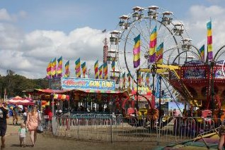The Carnival Midway at the Fair