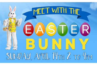 Meet with the Easter Bunny poster