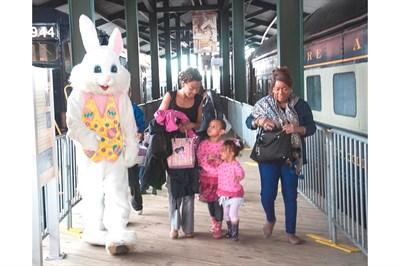 Easter Bunny visits the B&O