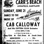 Carr's Beach Historic Lesson flyer