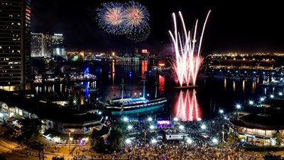 Fireworks in Baltimore