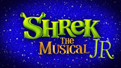 Blue and Green Shrek Jr. Logo