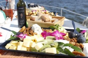 Wine and Cheese Pairings at the Wine in the Wind Cruise