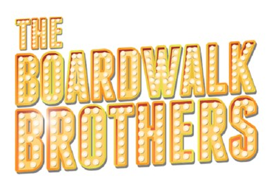 Colorful illustration of Boardwalk Brother's marquee