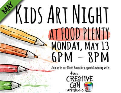 Kids Art Night at Food Plenty Poster