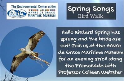 Spring Songs Bird Walk poster